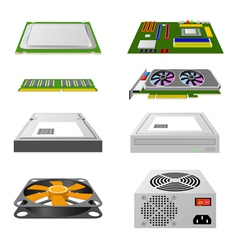 Computer hardware vector image