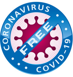 Coronavirus covid19-19 free badge vector