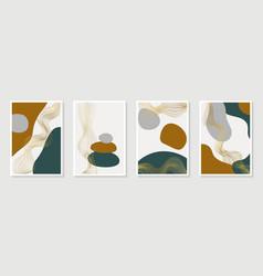 Creative minimalist hand draw abstract art vector