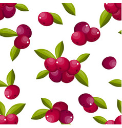 cute berry seamless pattern vector image