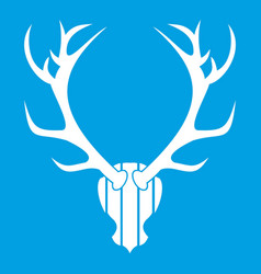 Deer antler icon white vector
