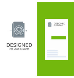 document file gear settings grey logo design and vector image