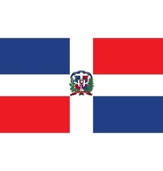 Dominican Republic flag image vector