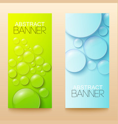 drops and bubbles vertical banners set vector image