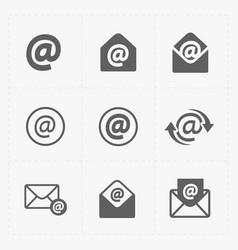 e-mail icons on white background vector image