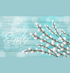 easter card realistic willow branches vector image