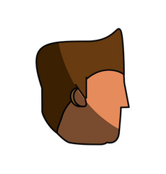 Faceless guy cartoon vector