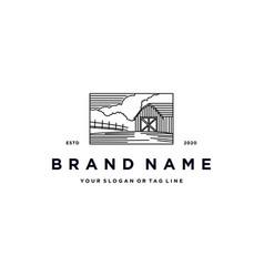 Farm shed logo design vector