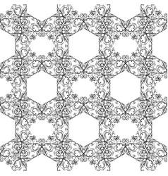 filigree black seamless pattern vector image