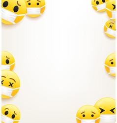 flu epidemic concept vertical frame for a text vector image