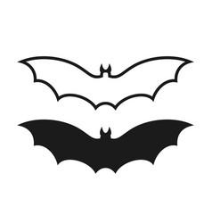 fruit bat isolated bats on white background vector image