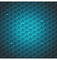 glass small hexagon background vector image