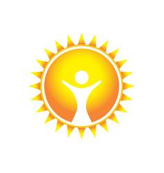 Glorious wonder sun symbol design vector