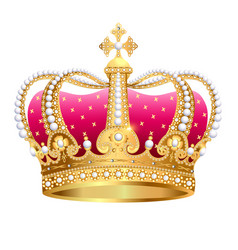 Golden royal crown insulated on white background vector