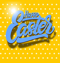 happy easter lettering phrase on dotted vector image