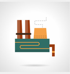 Heavy industry plant flat color icon vector