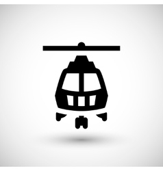 Helicopter symbol icon vector