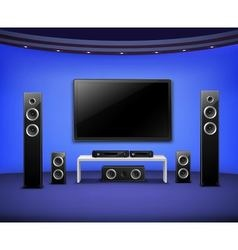 Home Theater Realistic Interior Concept vector image
