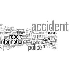 How to file a report in case a car accident vector