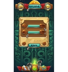 Jungle shamans GUI music options window vector