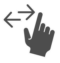 Left and right swipe solid icon drag side gesture vector