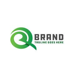 logo branding letter r vector image