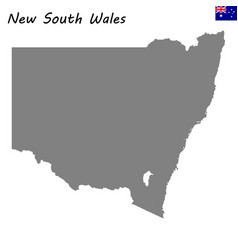 map of new south wales is a state of australia vector image