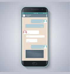 Messenger window blank templatesmart phone vector