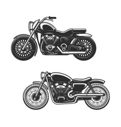 Motorcycle or bike icons race sport motorbikes vector