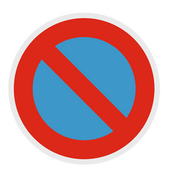 not parking icon flat style vector image