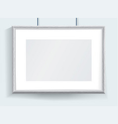 official horizontal realistic grey border hanging vector image