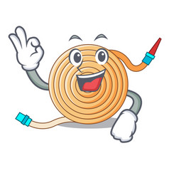 Okay garden water hose cartoon vector