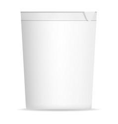 open yogurt mockup realistic style vector image