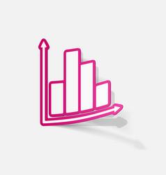 Paper sticker business chart vector