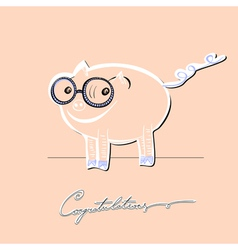 pig graphic vector image