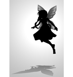 Pixie Silhouette vector image