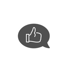 Positive feedback simple icon communication sign vector
