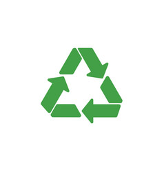 recycle symbol graphic design template vector image