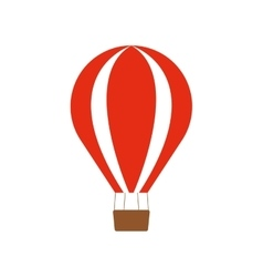 Red airballoon recreation vacation travel vector