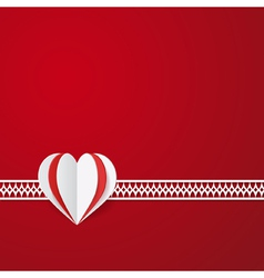 red modern Valentines card vector image