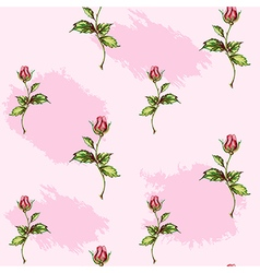 rose pattern on pink spots vector image