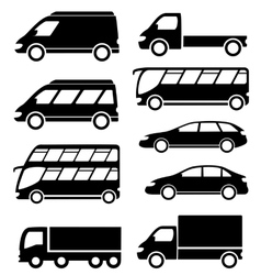 set transport icon on white background vector image