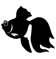 Silhouette of goldfish vector image