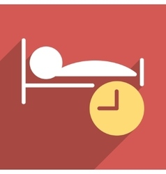 Sleep Time Flat Longshadow Square Icon vector
