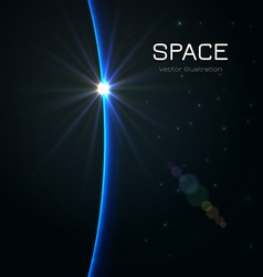 Space Sunset vector image