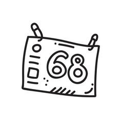 sport number vector image