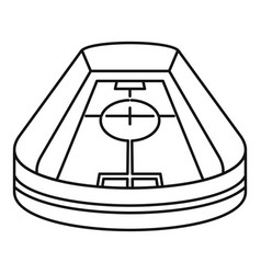 stadium icon outline style vector image
