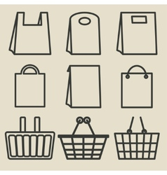 Store bag set vector