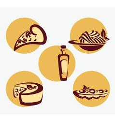 traditional Italian menu vector image