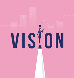 Vision concept in business with icon vector